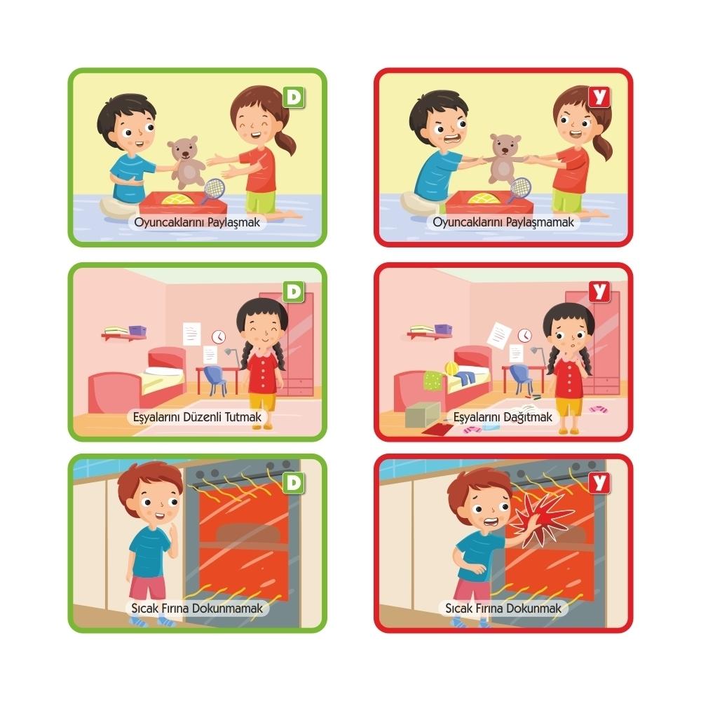 q bebek davranış gelişim kartlarım